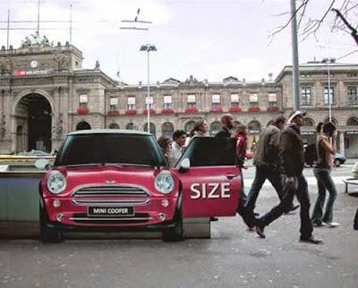 Mini, Marketing Guerrilla. Street Marketing, Branding
