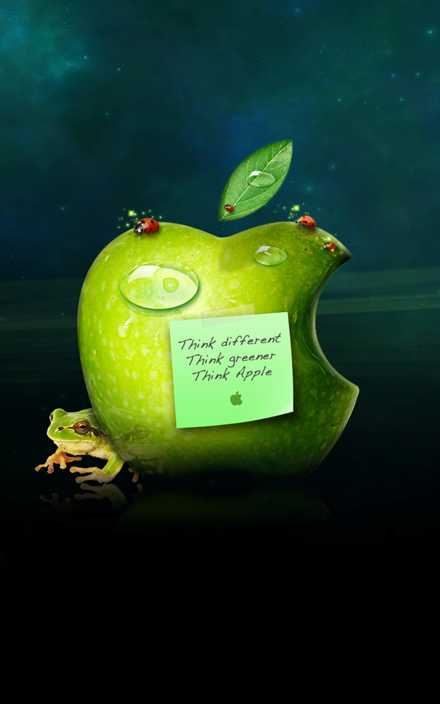Green Apple Logo Iphone 5 Background Wallpapers 1136 X 640