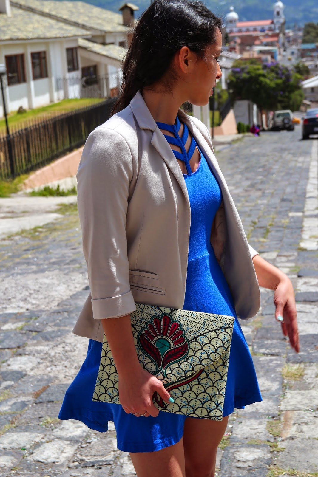 African Inspired Printed Clutch Fair Trade