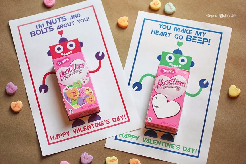 party favor valentine robot