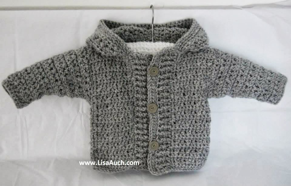 Crochet Baby Hooded Cardigan Pattern English Sweater Vest