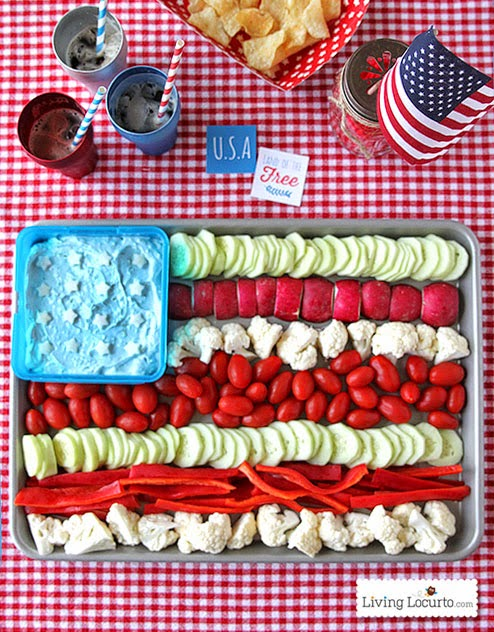 cucumbers, radishes, cauliflower, grape tomatoes, red peppers, dill dip