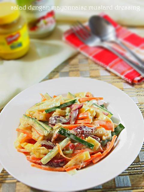 salad buah sayuran dengan mayonnaise