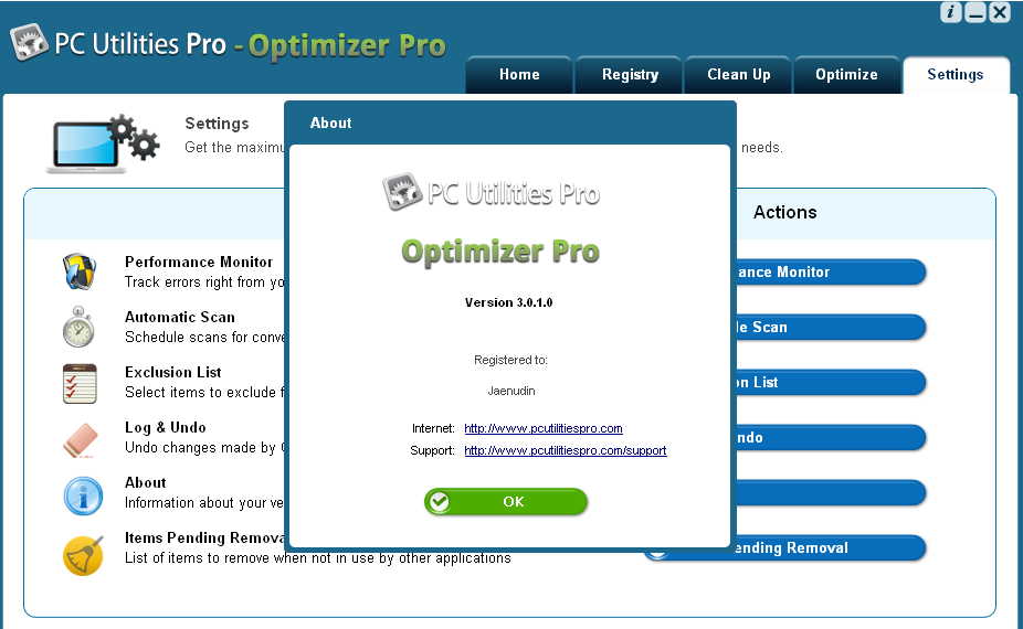 PC Utilities Pro - Optimizer Pro v3.0.1.0 + License Key - Update