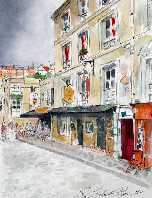 Carnet de voyage. Rue Gabrielle, Paris 18
