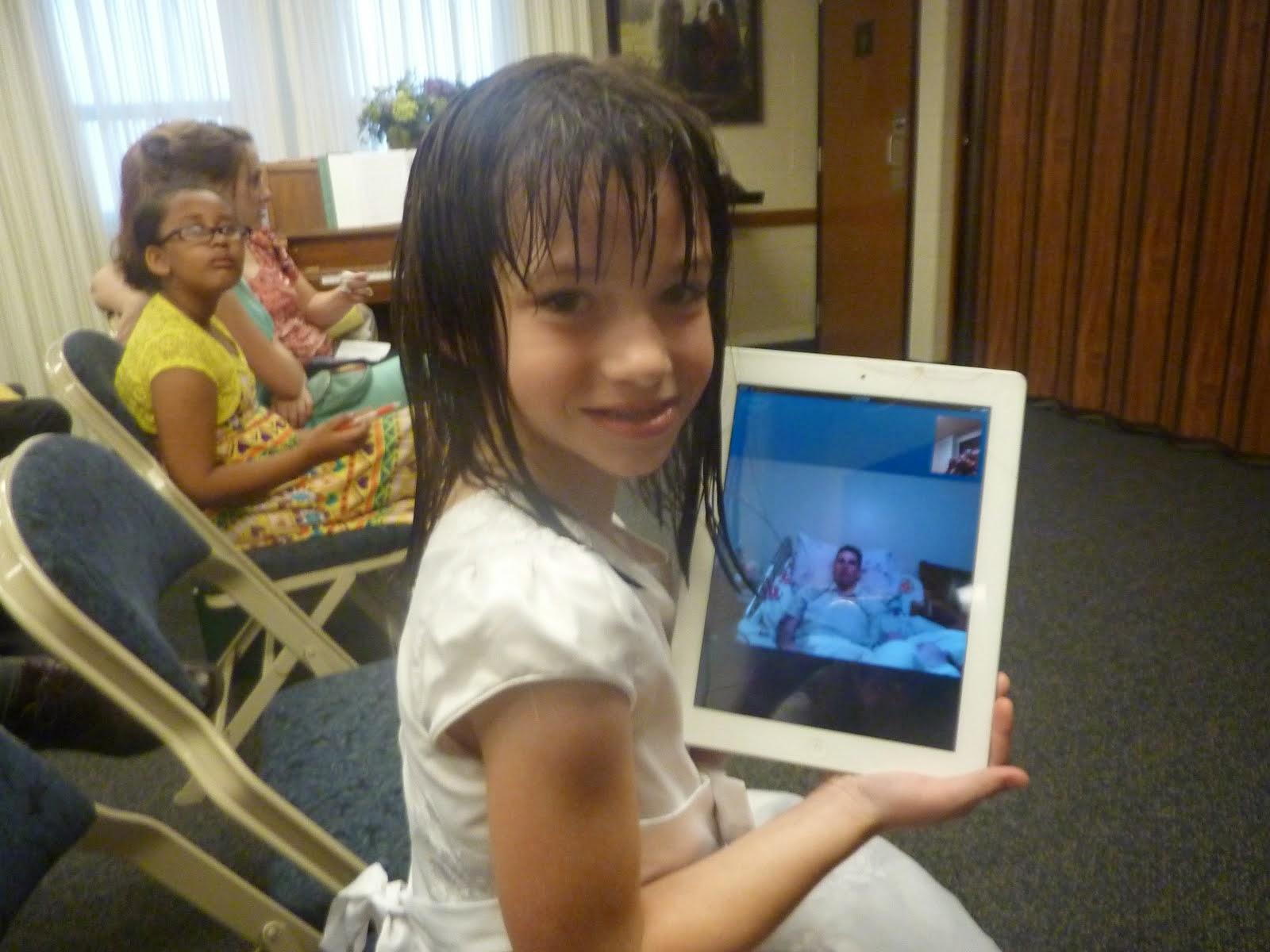 Katie and Chris - on Skype