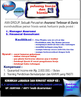 Job in Lampung, PT. AXA Financial Indonesia
