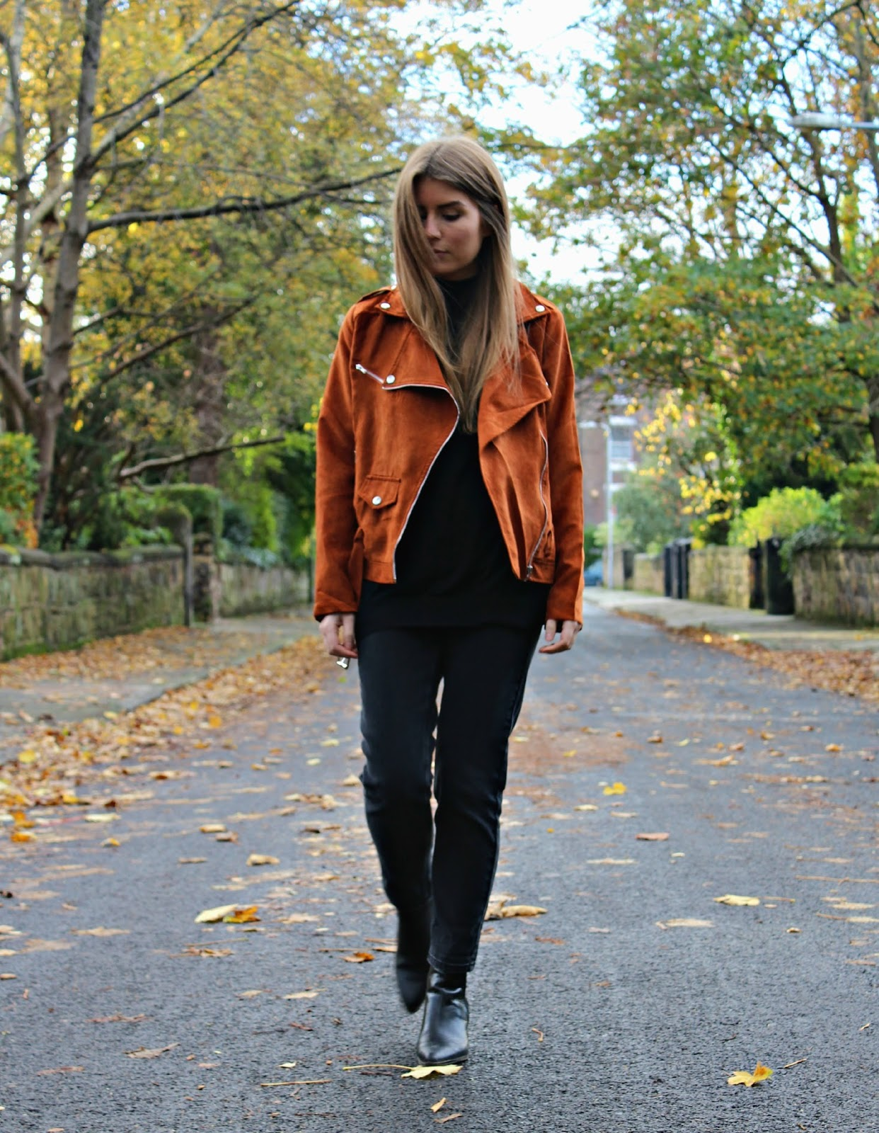 Style Trunk : Outfit: The Suede Biker Jacket