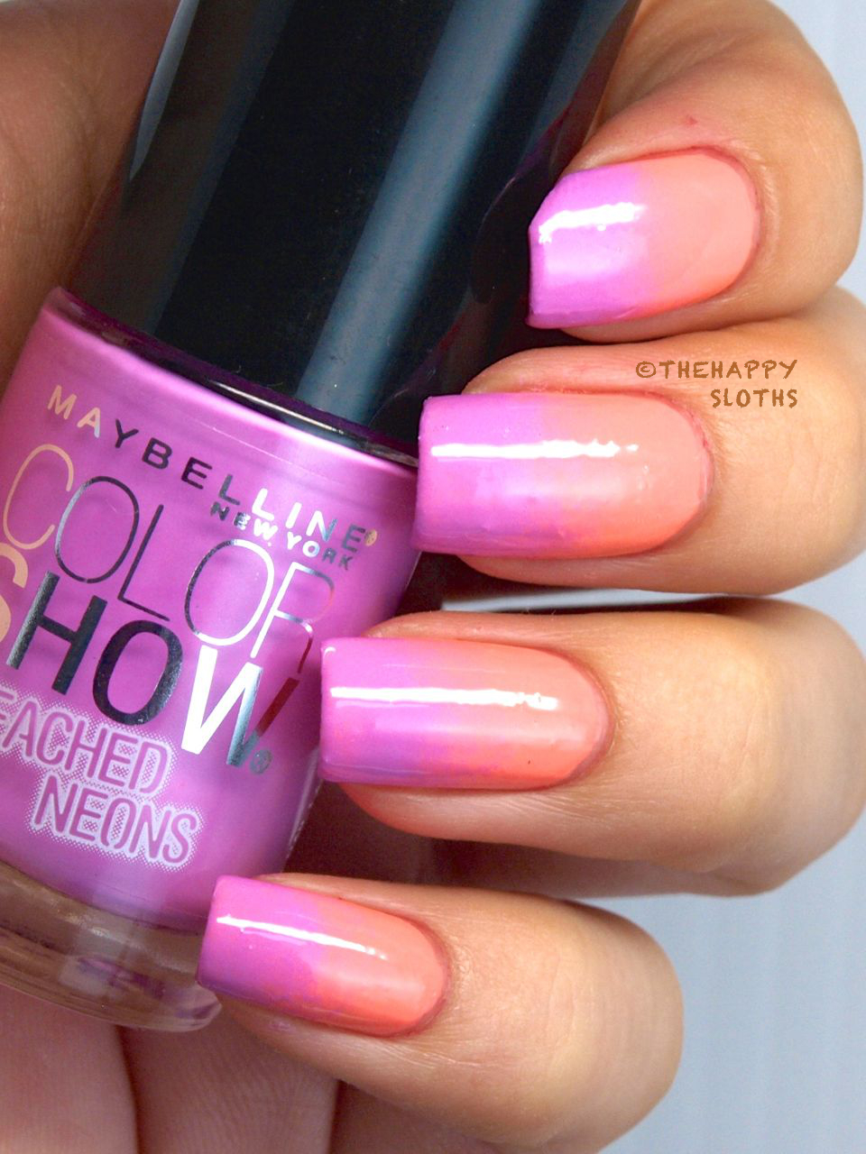 Summer Gradient with Maybelline Color Show Bleached Neons Nail ...