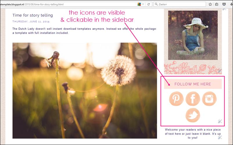 adding social icons to your sidebar