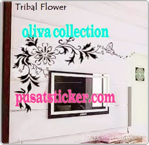 wall sticker black color (ready stock) - olivacollection