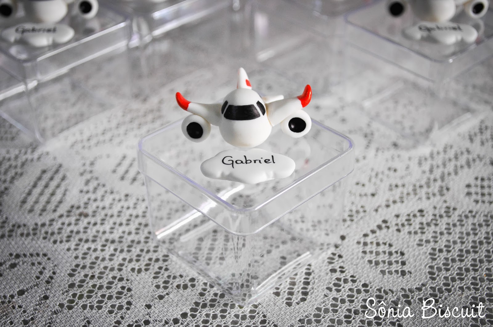 Caixinhas Acrílico Lembrancinha Nascimento Avião Aviãozinho