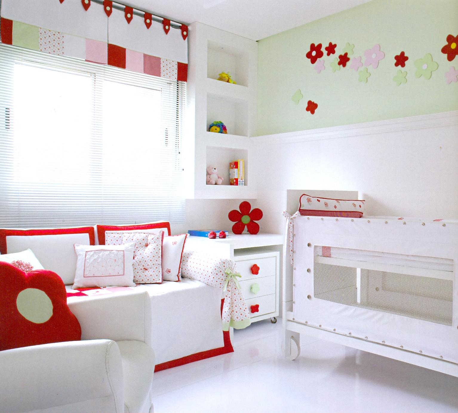 #8E160F Copiando e Decorando.: Quarto de bebê MENINA 1534x1383 px vermelho banheiro feng shui