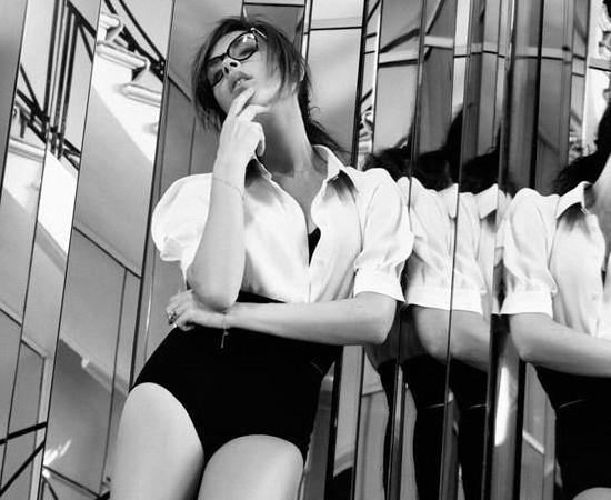 Victoria Beckham y Karl Lagerfeld