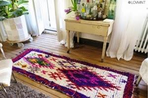 tapis ethnique azilal vintage