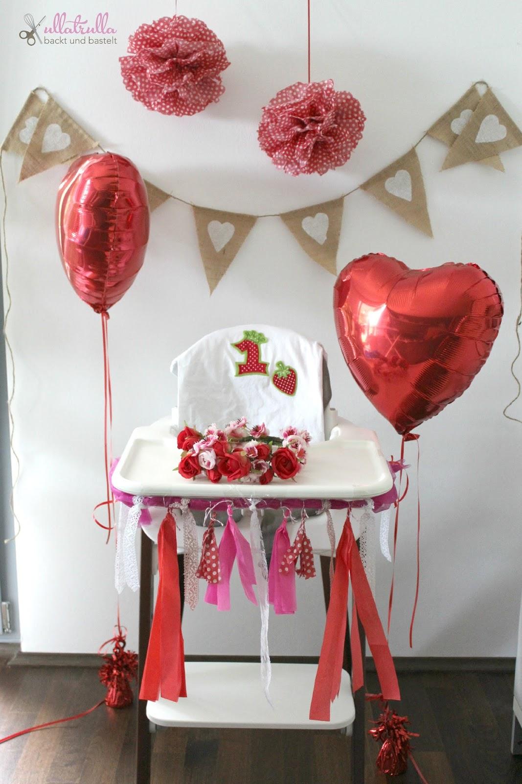 ullatrulla backt und bastelt bl tenkrone smash cake und dekoration in rot und wei helenas. Black Bedroom Furniture Sets. Home Design Ideas