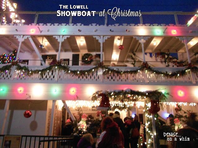 The Lowell Showboat at Christmas via http://deniseonawhim.blogspot.com