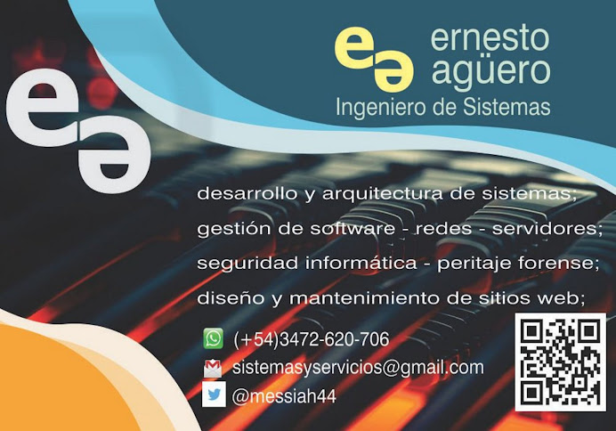 ESPACIO PUBLICITARIO: INGENIERO DE SISTEMAS ERNESTO AGÜERO