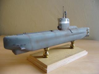 maqueta estatica de submarino de la segunda guerra mundial