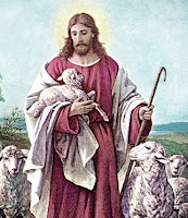 Jesus with a sheep