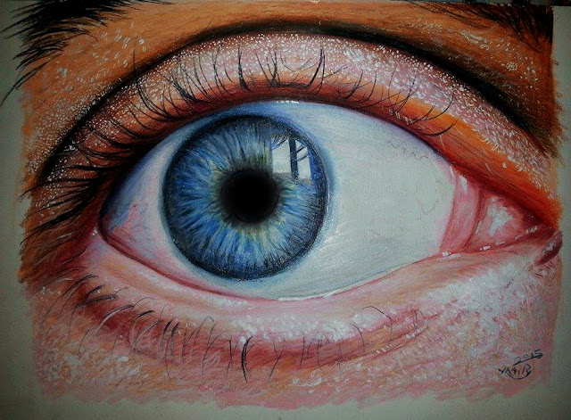 New Work - Eye Realestic Pencil Color