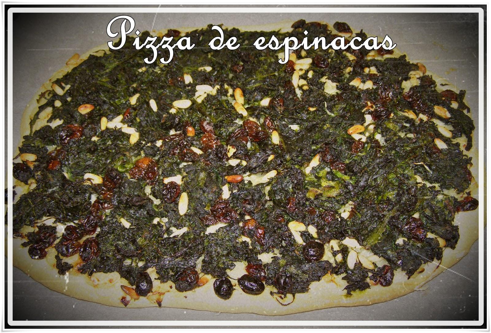 Endulzando la vida entras pizza de espinacas for Espinacas como cocinarlas