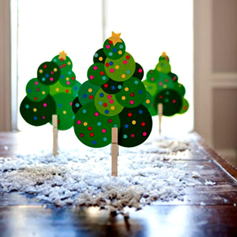 Casa montada 10 rvores de natal para voc fazer for Arbol de navidad mural