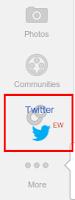 twitter in google+ sidebar