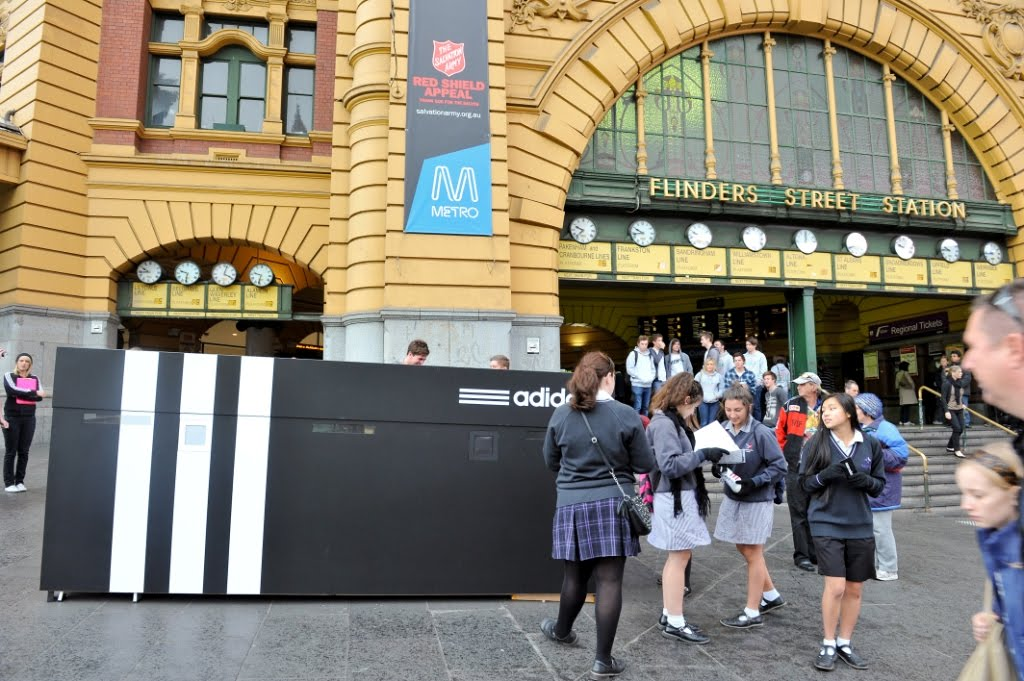 Giant Adidas Shoe Box
