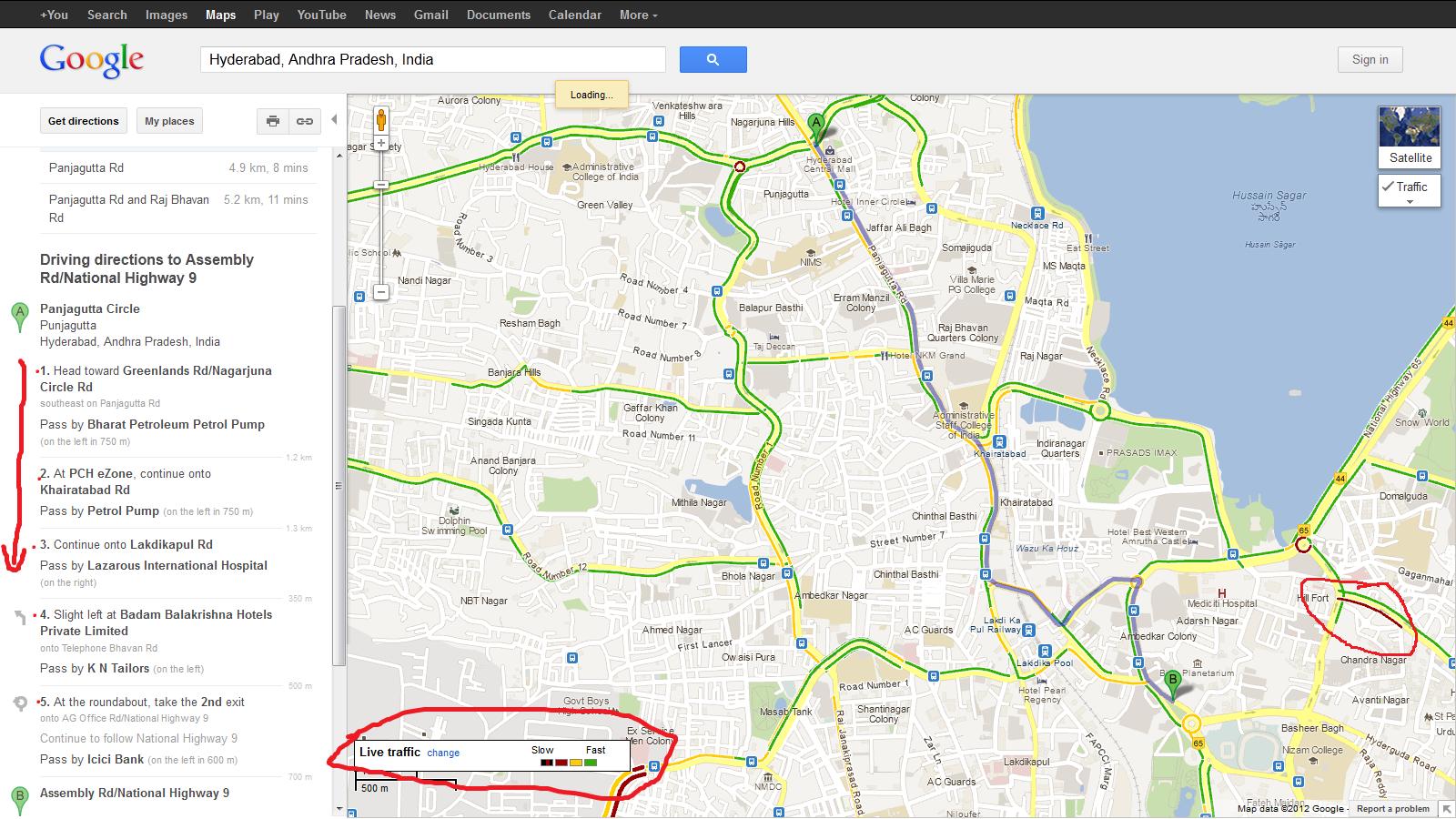 Google Maps New Updates Voice Navigation Live Traffic Bluesqare Tips