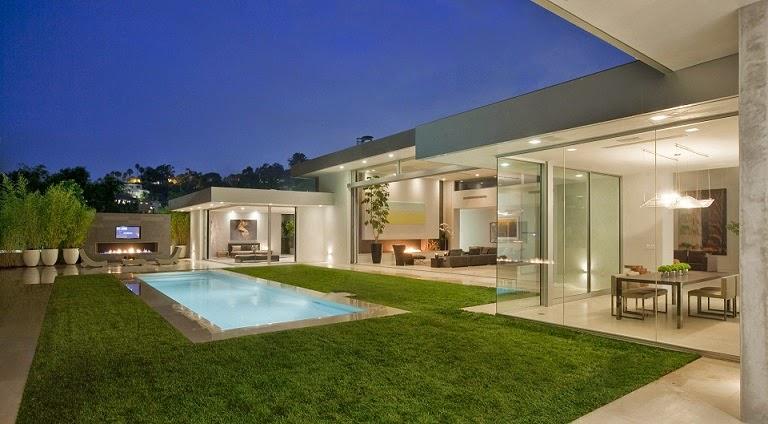 Casa minimalista beverly hills mcclean design for Casa minimalista lujo