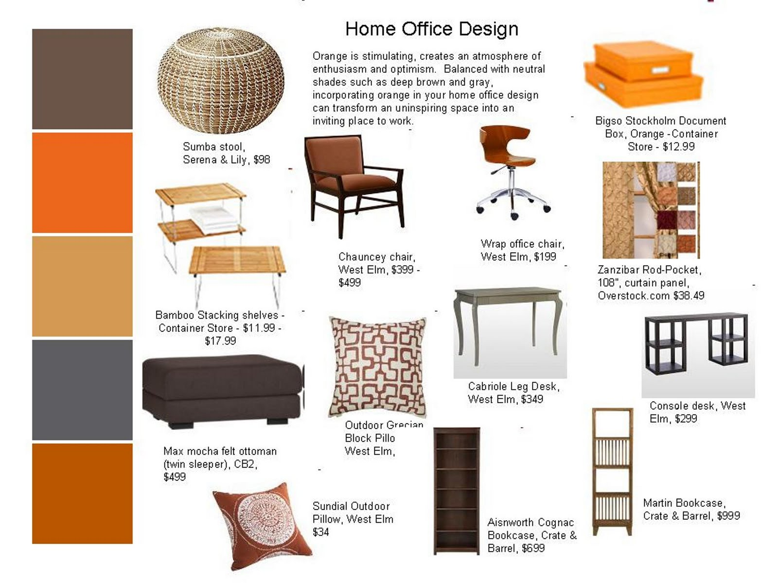 Designersu0027 Corner: Home Office Design With A Pop Of Color