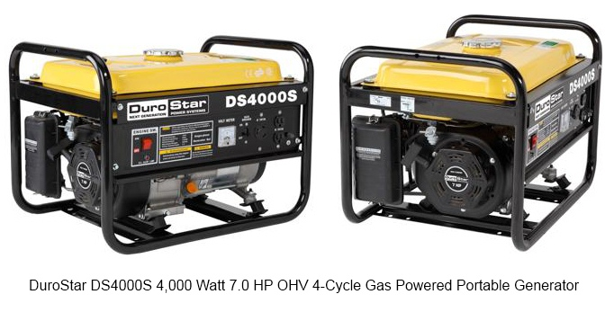 DuroStar DS4000S 4,000 Watt 7.0 HP OHV 4-Cycle Gas Powered Portable