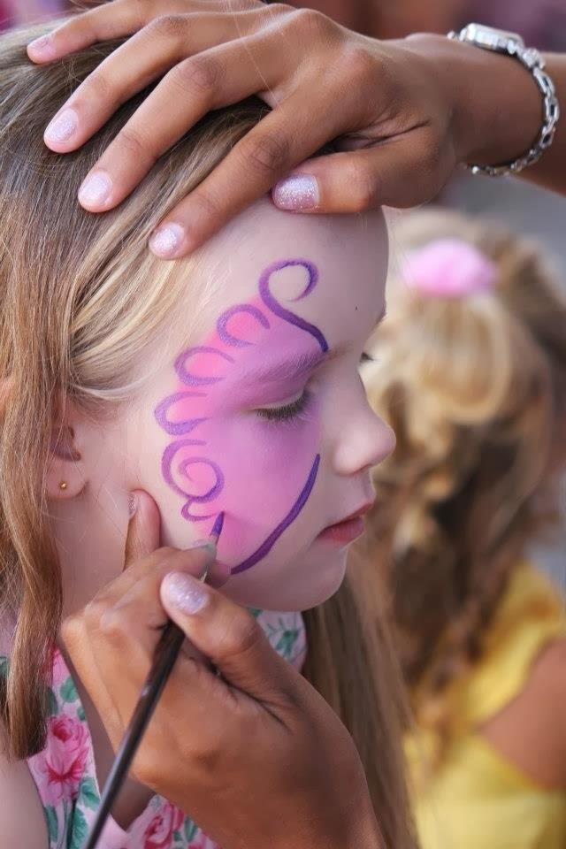 Pintar la cara mariposa