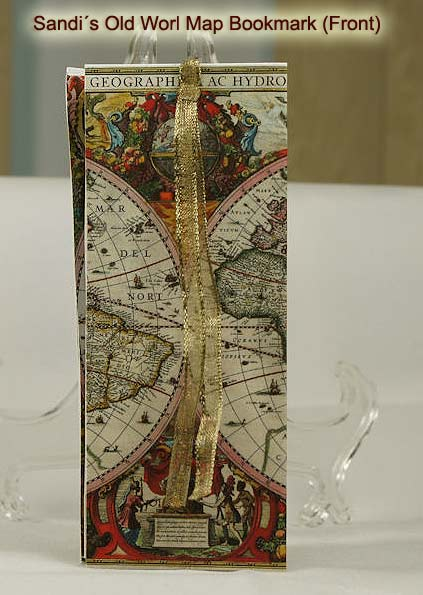 Nicecrane designs old world map folded bookmark get these amazing bookmarks here gumiabroncs Choice Image