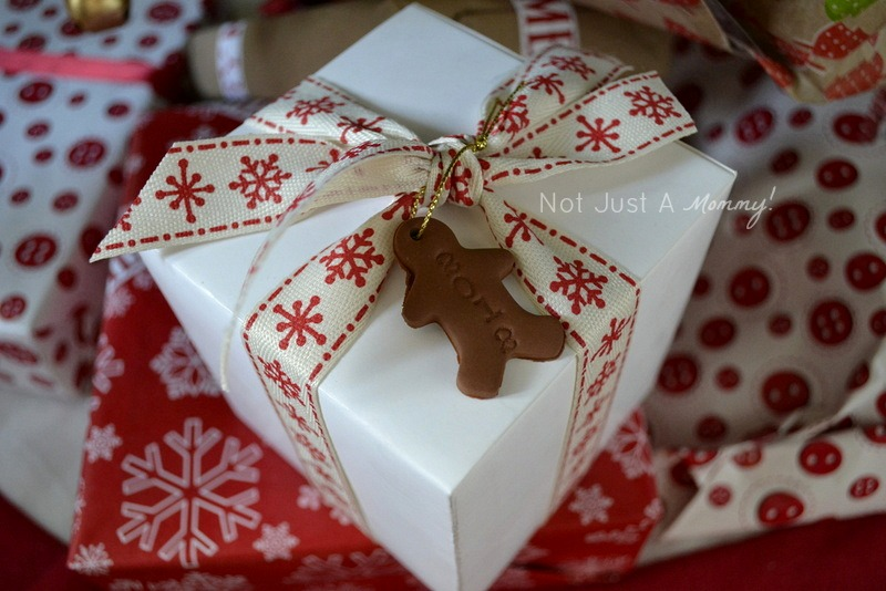 polymer clay gift toppers gingerbread man present