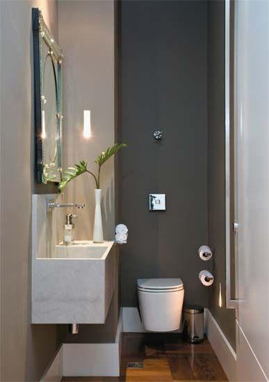 Flores e plantas no banheiro ou lavabo  Jeito de Casa  Blog de Decoração -> Banheiro Planejado Cinza
