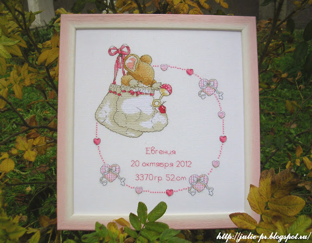 Anchor CTM0006 New Baby, детская метрика, метрика для девочки, вышивка крестом, анкор