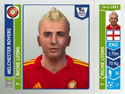 Richie Lyons Melchester Rovers Panini 2014/15