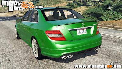 V - Mercedes-Benz C63 (W204) AMG para GTA V PC