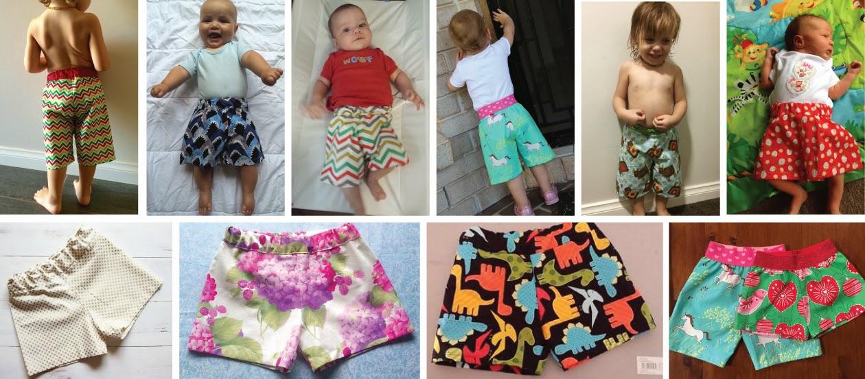 Pattern Hack Make Shorts Using The Baby Toddler Harem Pants