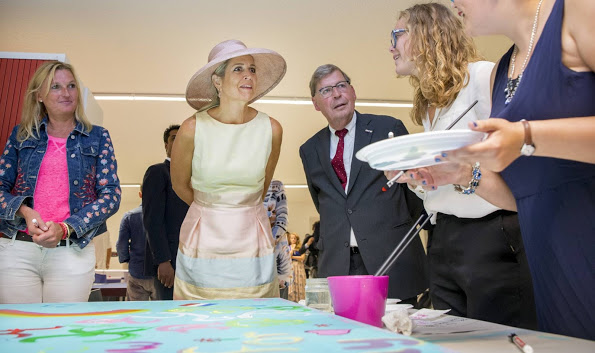 Queen Maxima Visits Papageno House In Laren