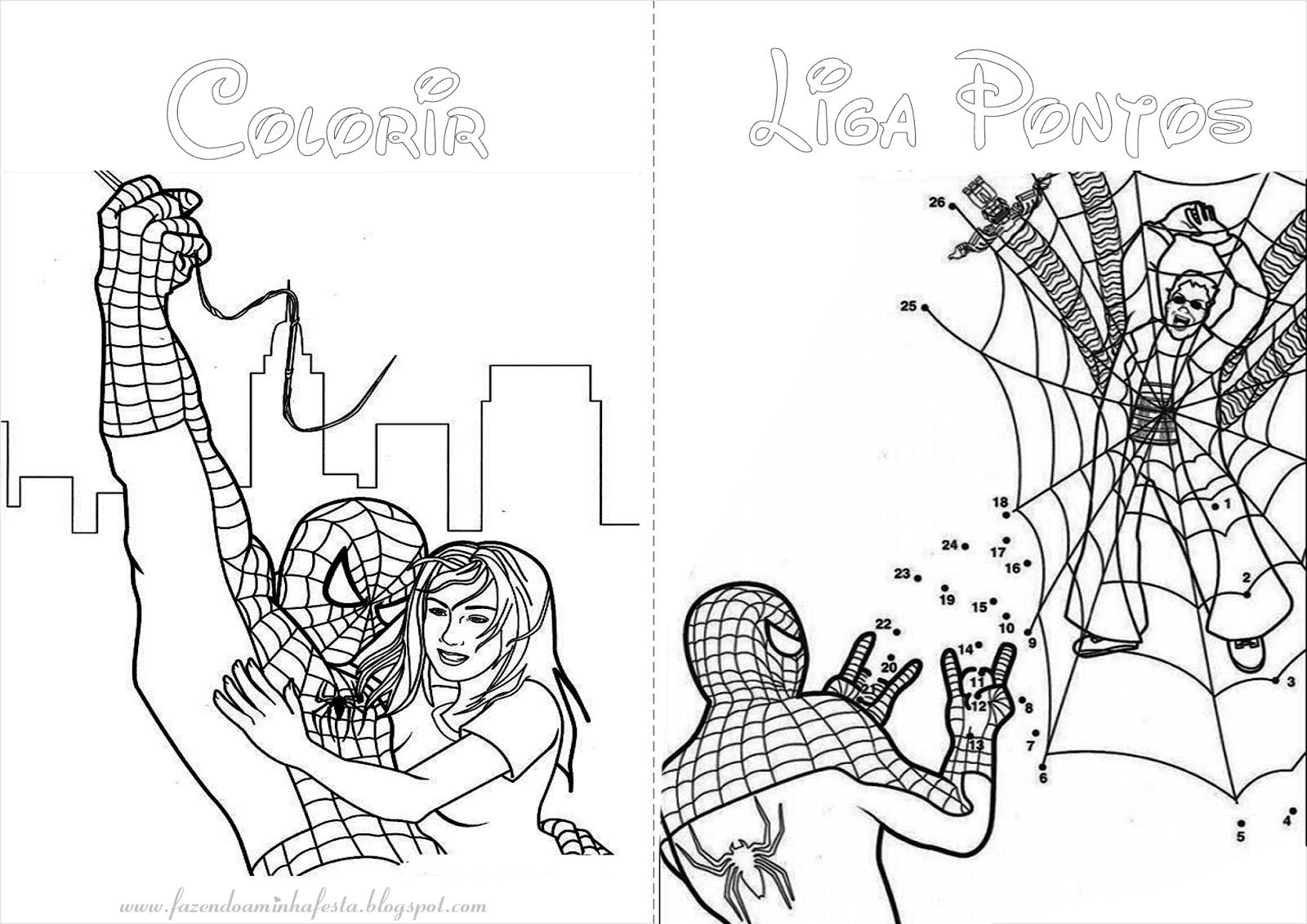 imagens para colorir do homem aranha