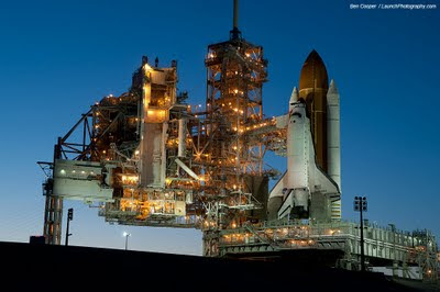 Endeavour at launch pad