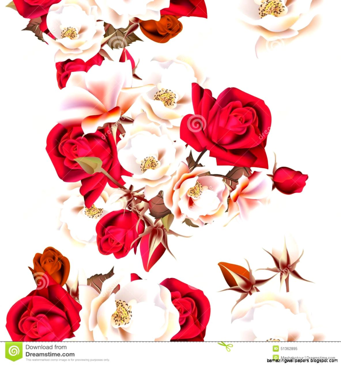 White And Red Flower Wallpaper Amazing Wallpapers