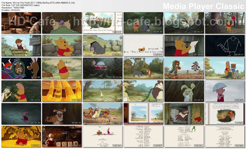 Winnie The Pooh 2011 video thumbnails