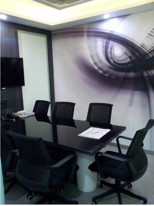 Home decor black and white office design for Office design johor