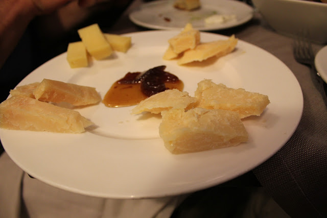 Cheese platter at Roscioli, Rome, Italy
