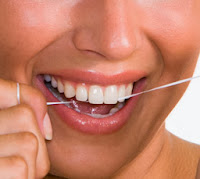 flossing for whiter teeth