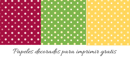Scrapbook paper, free printable. Papel decorado para